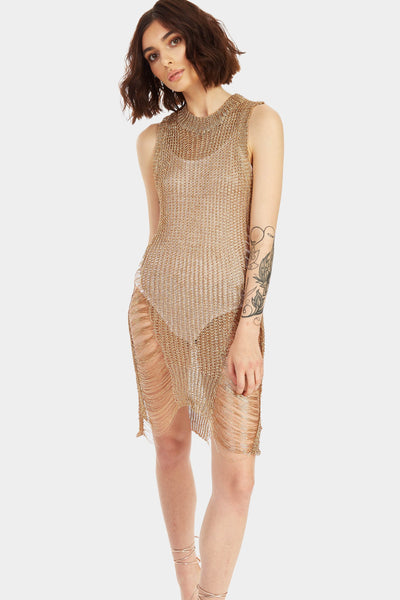 A17W-1300013394-GLD-OS-knit-distressed-dress-gold-jl6367