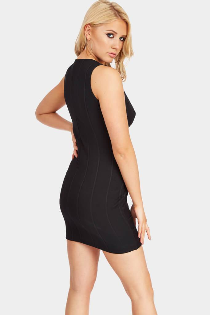 Black Sleeveless Bodycon Bandage Mini Dress view 5