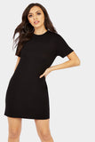 Black Basic T-Shirt Dress