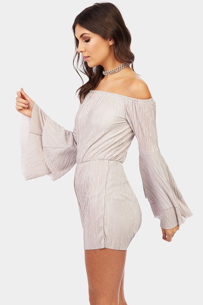 bardot-frill-sleeve-playsuit view 3
