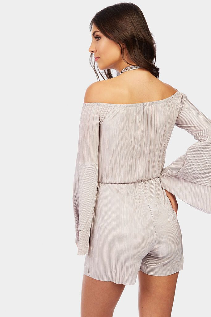 bardot-frill-sleeve-playsuit view 4