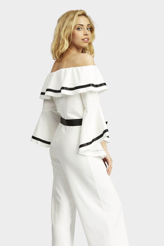 flare-sleeve-off-the-shoulder-jumpsuit view 5