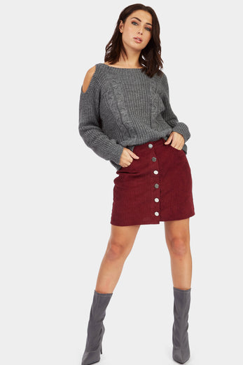 A17W-1900013453-WNE-8-button-front-cord-mini-skirt-burgundy-jl6392