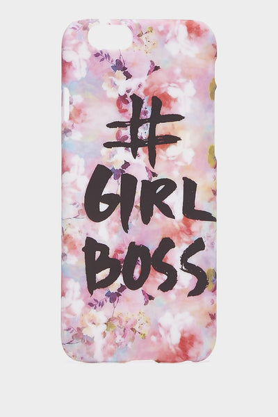 Pink Hashtag Girl Boss Phone Case