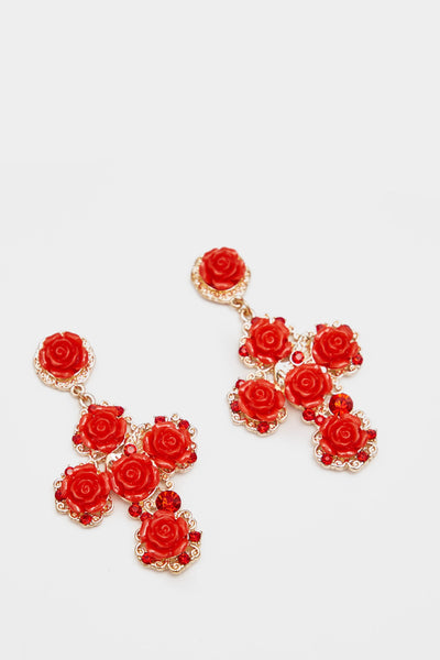A17W-2600013148-RED-OS-rose-detail-large-cross-earrings-mid-red-jl6248
