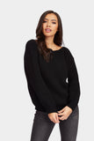 Black Slash Neck Jumper