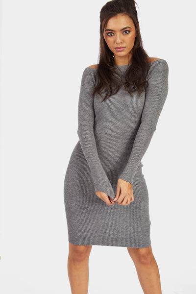 A17W-2700014353-GEY-OS-cold-shoulder-knitted-ribbed-dress-mid-grey-jl6865