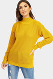 Mustard High Neck Jumper