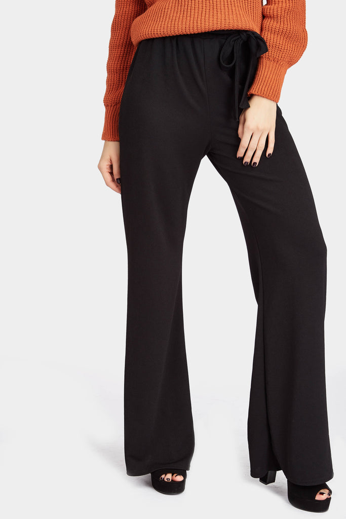 Black High Wide Leg Trousers