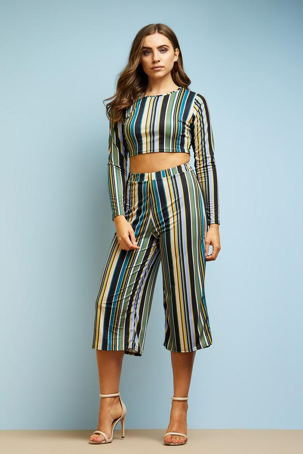 stripe-printed-long-sleeve-fitted-crop-top- view 5