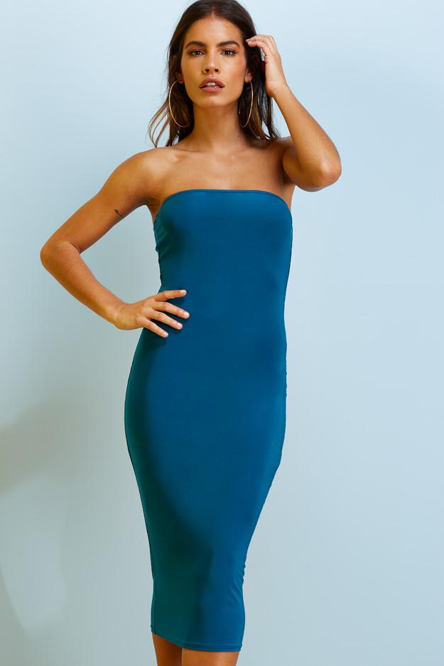 slinky-bandeau-midi-dress