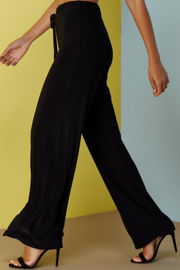 slinky-draw-string-wide-leg-trousers view 3
