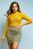 Mustard Turtle Neck Cropped Jumper