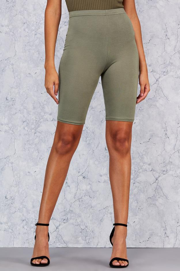 Khaki Basic Cycling Short 3 view 3