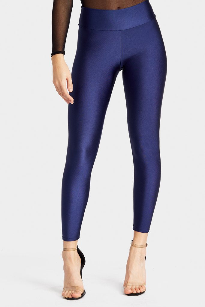 Navy High Waisted Disco Leggings