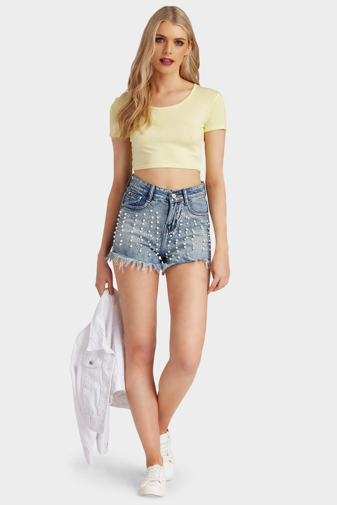 Lemon Basic Crop Top