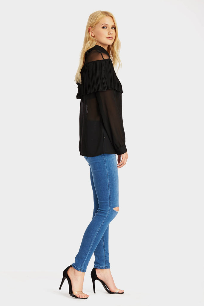 mesh-blouse-with-ruffle-front