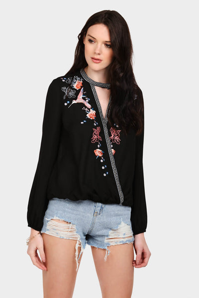 S17W-1000004064-BCK-S/M-embroidered-wrap-front-blouse-black-jl1839