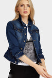 Medium Blue Two Pocket Cropped Denim Jacket