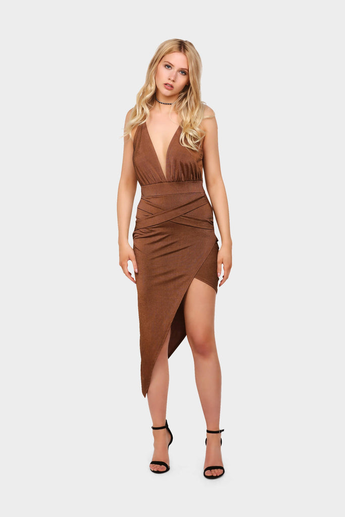 S17W-1300000370-CTE-6-slinky-wrap-mini-dress-mid-brown-jl0151