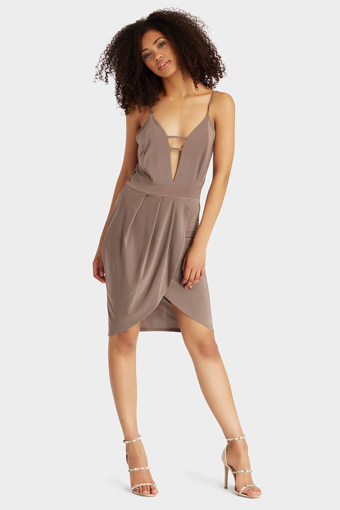 wrap-front-slinky-caged-mini-dress