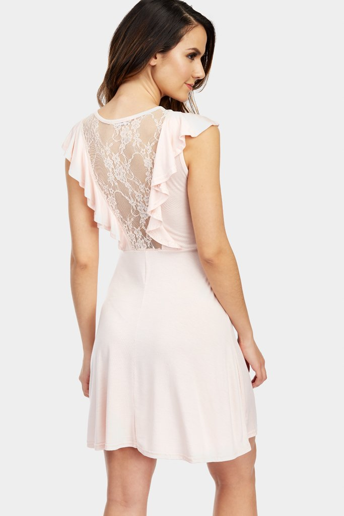 lace-v-neck-and-frill-dress