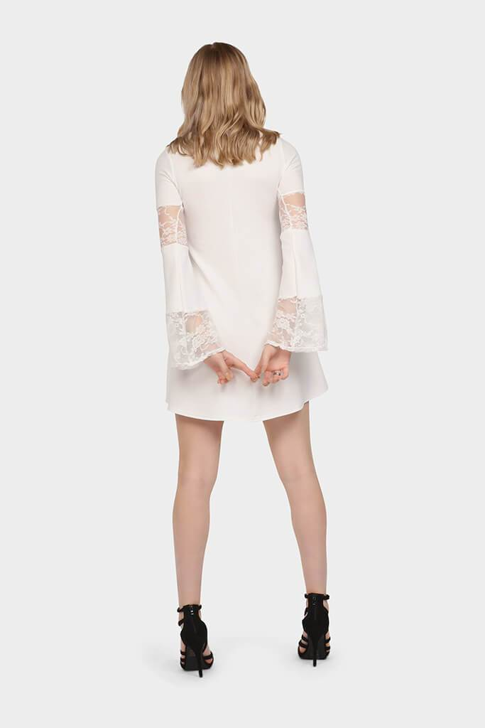 lace-panelled-flute-dress view 5