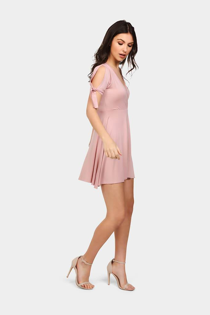wrap-front-skater-mini-dress-with-arm-detail