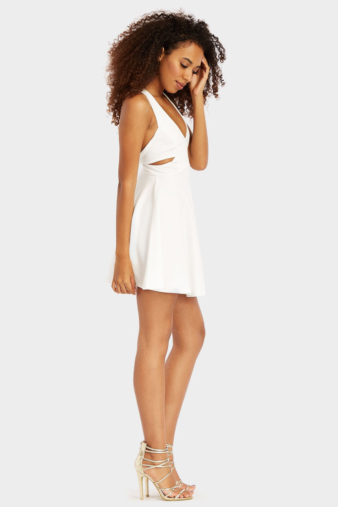 Ivory Cut Out Skater Dress