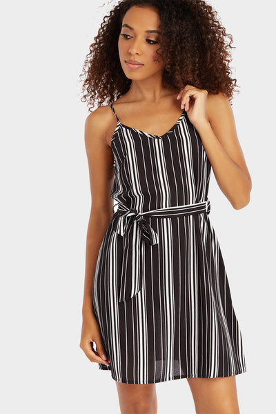 S17W-1300003978-BTE-6-stripe-tie-vest-mini-dress-black-jl1746