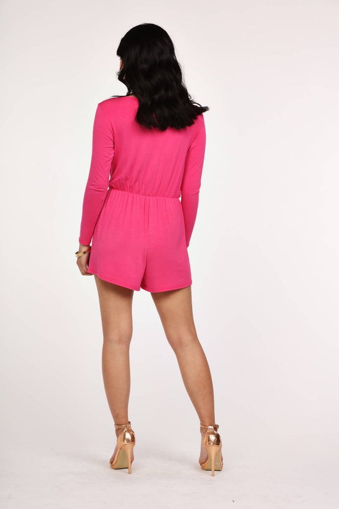 Magenta Basic Wrap Playsuit