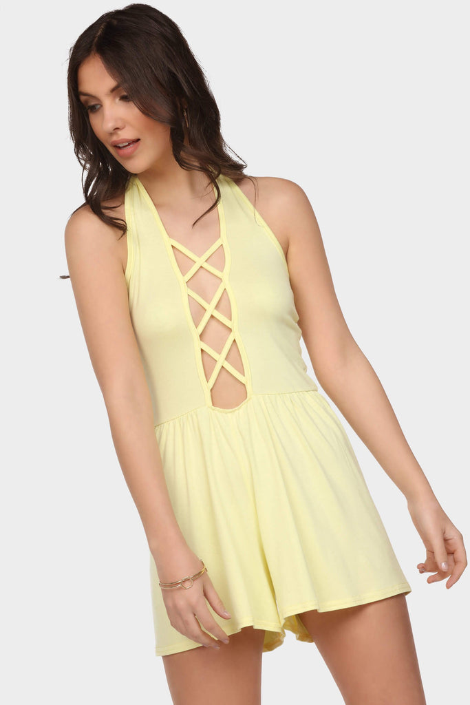 criss-cross-front-playsuit view main view