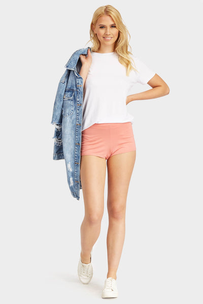 S17W-1800000924-SON-6-salmon-plain-high-waisted-short-mid-pink-jl0332