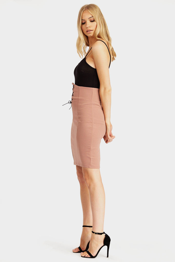 Pink High Waisted Bodice Skirt