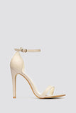 Nude Patient High Heel Strappy Sandals