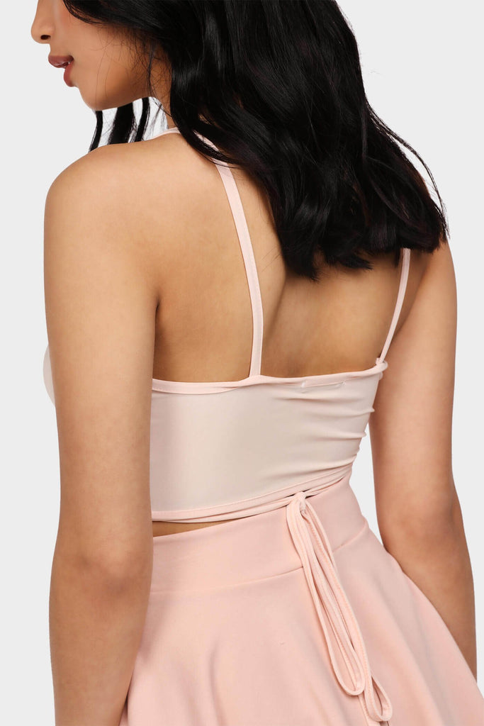 Nude Twist Triangle Bralet