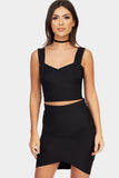 Black Bandage Crop Top
