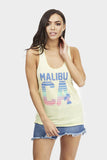 Yellow Malibu Print Vest Top