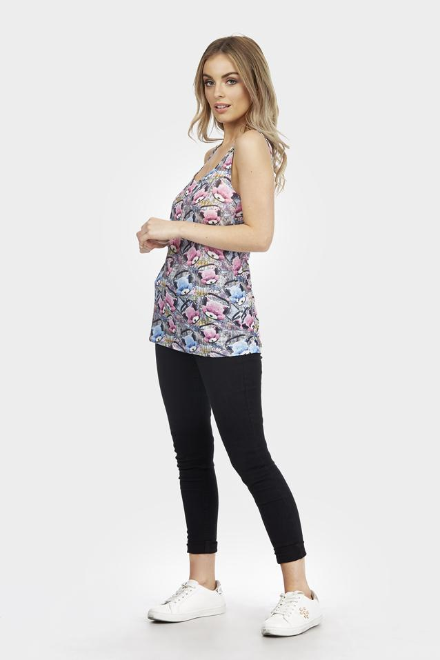 Multi Ted Graphic Print Vest Top