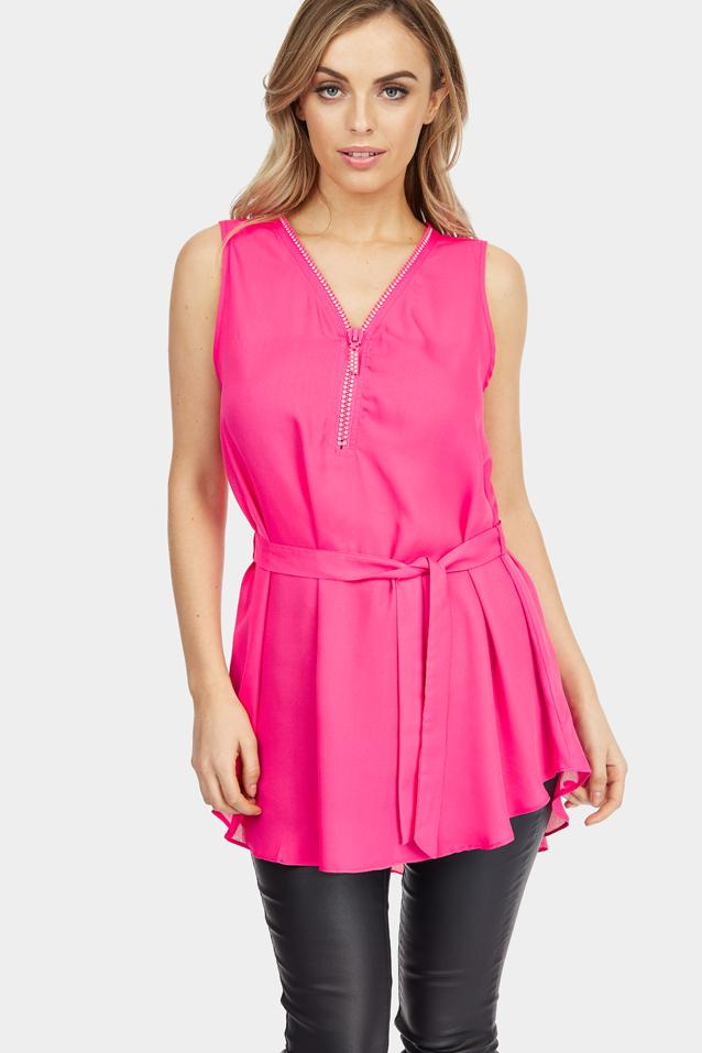diamante-zip-chiffon-blouse