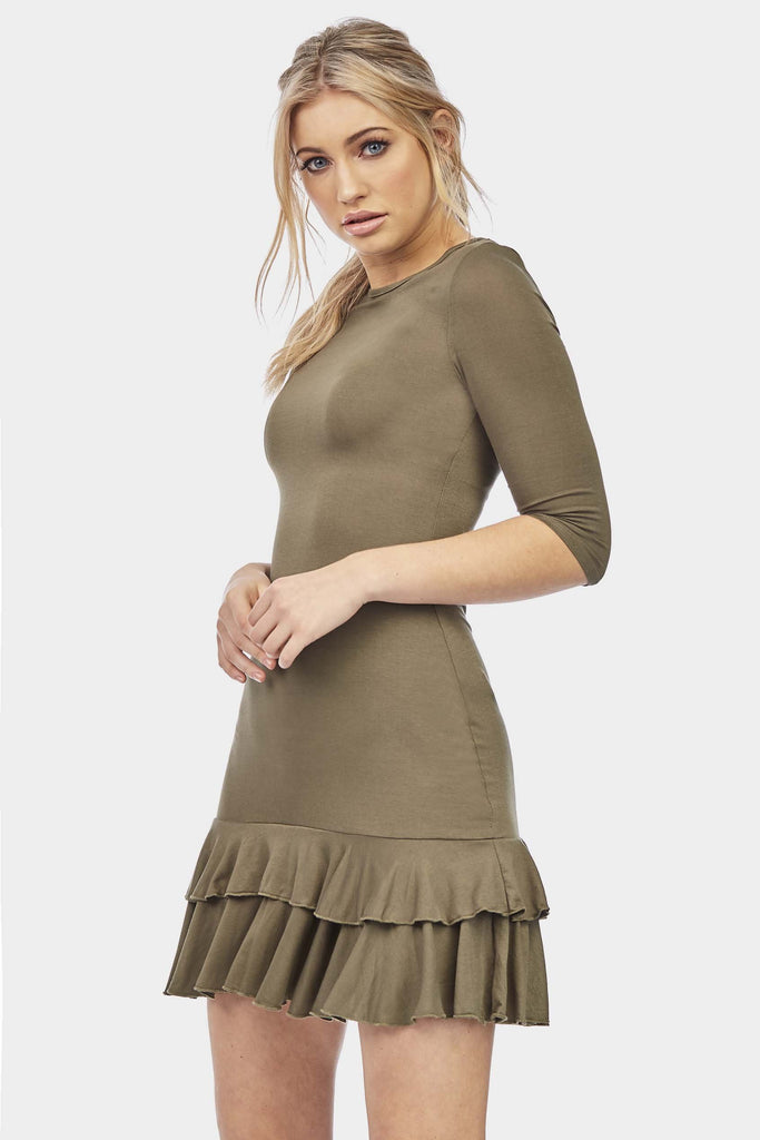 3/4-sleeve-double-frill-dress