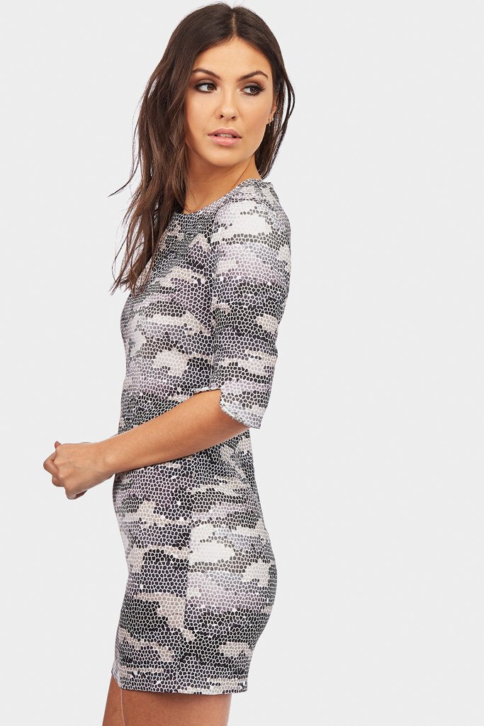 snake-print-bodycon-dress
