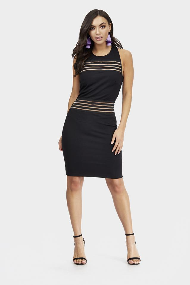 contrast-mesh-bodycon-dress-with-gold-trim-detail-