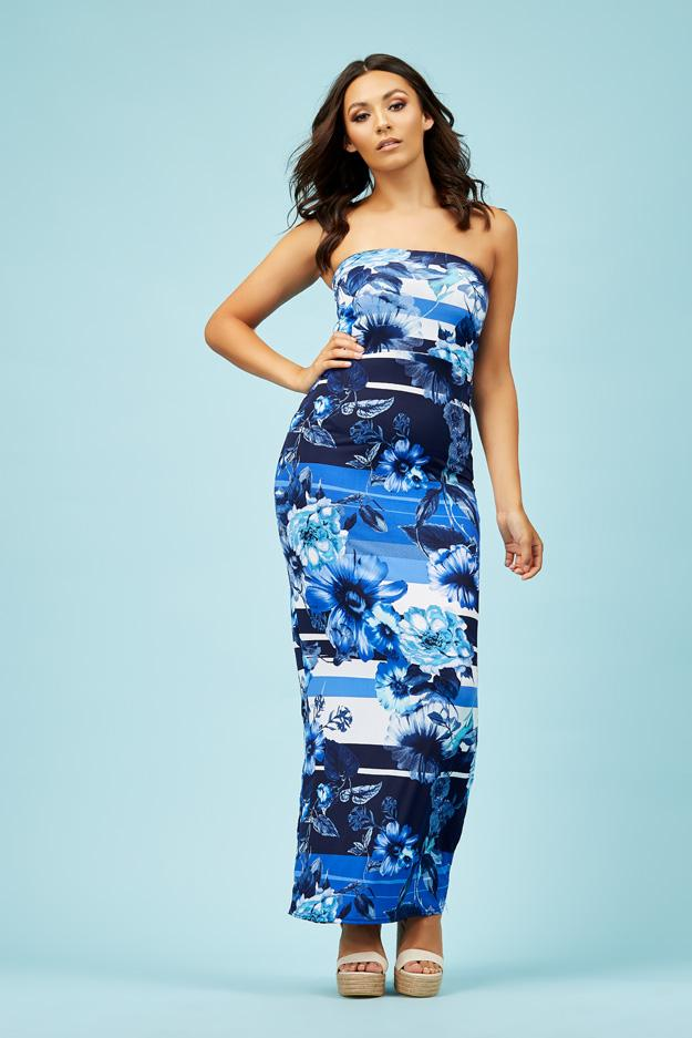 floral-printed-bandeau-maxi-dress