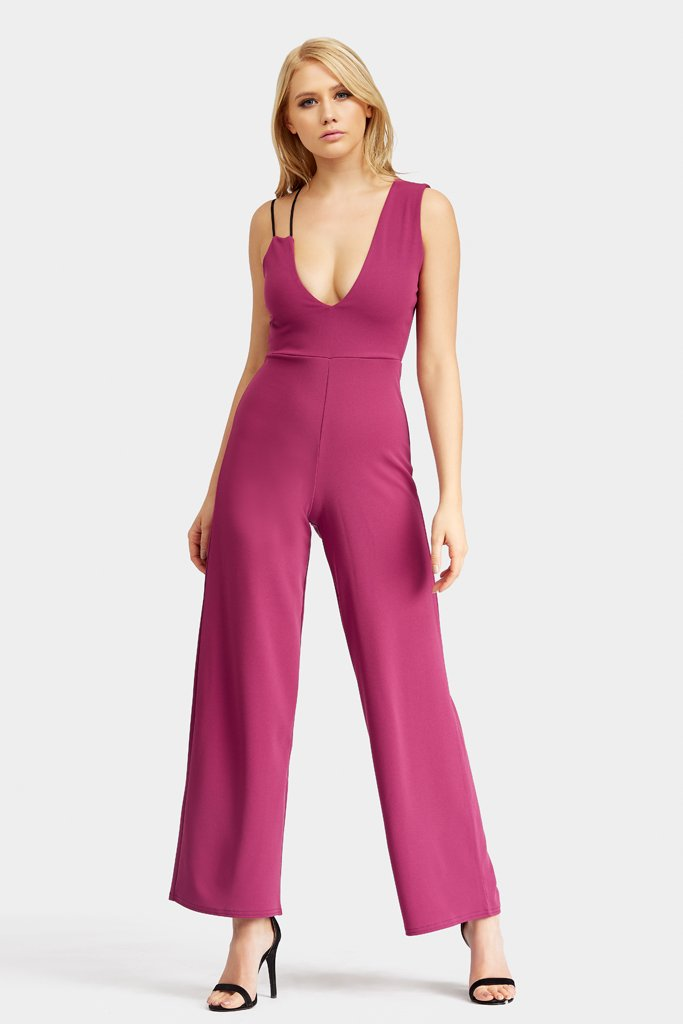 v-neck-strappy-tailored-jumpsuit