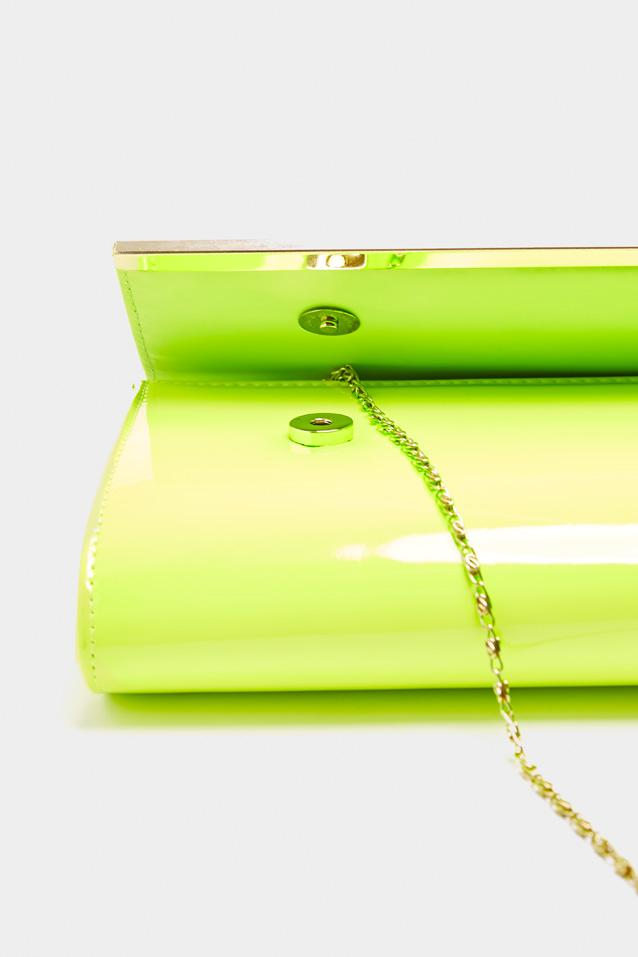 neon-patent-clutch-bag