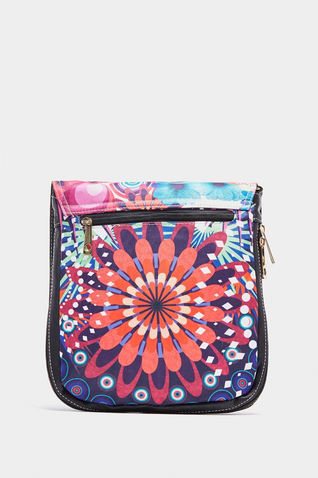 Black Bohemian Printed Cross Body Bag