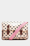 Pink Large Satchel Polka Dot Bag