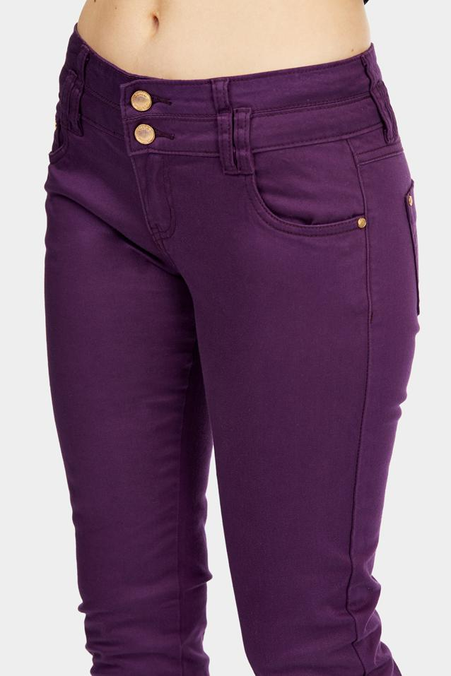 Purple Pocketed Skinny Jeans