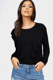 Black Frill Knit Jumper